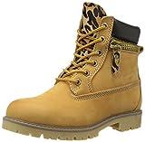 Bronx Women's Yippy Zippy Combat Boot,Dark Yellow,38 EU/8 M US