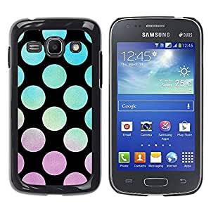 Paccase / SLIM PC / Aliminium Casa Carcasa Funda Case Cover para - Vibrant Violet Teal Sunset Pattern - Samsung Galaxy Ace 3 GT-S7270 GT-S7275 GT-S7272