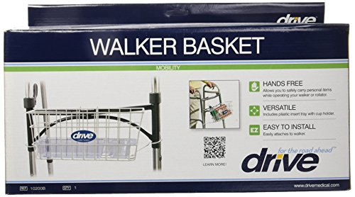 Drive-Medical-Walker-Basket-White-with-plastic-cup-holder