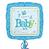 Anagram Welcome Baby Boy Train 18 Inch Foil Balloon