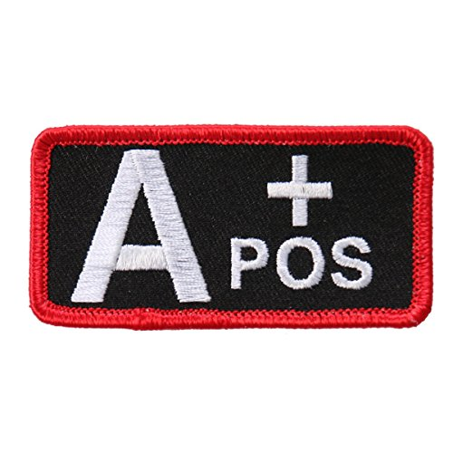 Hot Leathers, BLOOD TYPE A+ POS, Exceptional Quality Iron-On / Saw-On, Rayon A Postive PATCH - 3