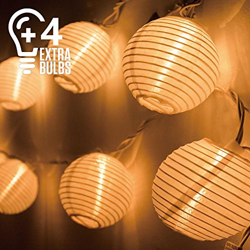 1 Light 10' Cage Lantern (Indoor Outdoor String Lights, 14 Bulbs(4 Extra),10ft Plug-in Connectable Waterproof Lantern String Lights for Valentine Wedding Bedroom Patio Backyard, Expandable to 250 Lights, UL Listed (Warm White))