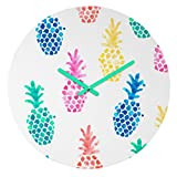 Deny Designs Dash and Ash Round Clock, Pineapple Paradise