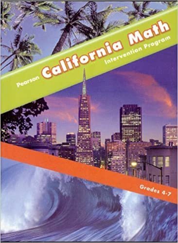 California Math Intervention Program Grades 4 7 Pearson
