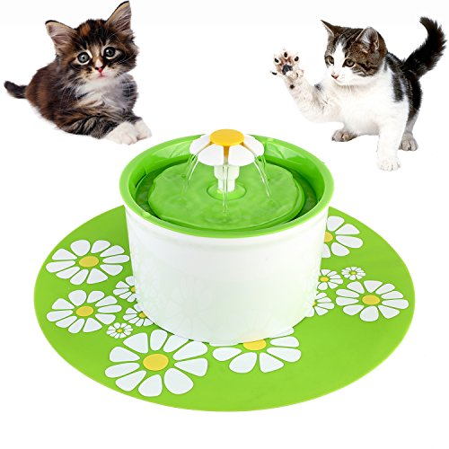 Automatic Feeder Drinking Pets Bowl Water For Cat Dog (Green) - 1