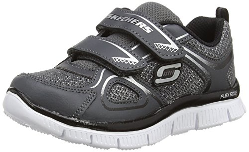 Skechers Flex Advantage Mini Rush - Zapatillas de running, Niños Gris (Charcoal Black)
