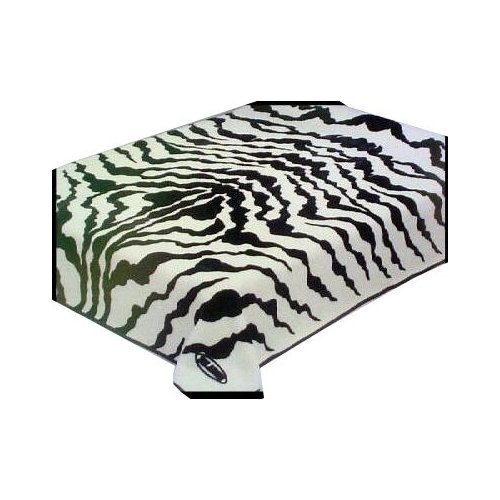 NEW TWIN SIZE ZEBRA PRINT SOLARON KOREAN MINK BLANKET