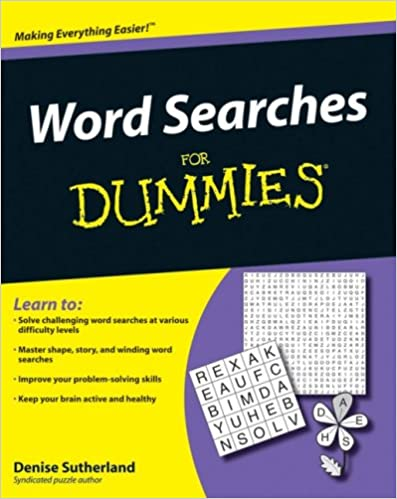Téléchargements de livres pdf gratuitsWord Searches For Dummies (For Dummies (Sports & Hobbies)) by Denise Sutherland PDF