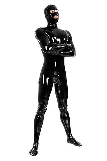 Amazon.com: Gaoin Mens Latex Rubber Fullbody Zentai Catsuit ...