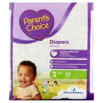 Branded Parents Choice Diapers, Size 3, 24 Diapers , - Branded Diapers with fast