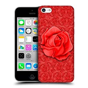 Crimson Rose Protective Back Case Cover For Apple iPhone 5c