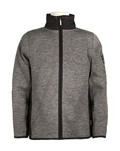 Dale of Norway Men's Spitsbergen Sweater, Smoke/ Black, Large