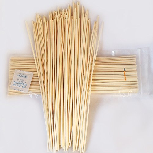 AIWANT Reed Diffuser 100pcs Aroma Reed Diffuser stick Rattan set 12'' X 3MM sealed package
