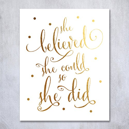 Believed Inspirational Modern Poster inches product image