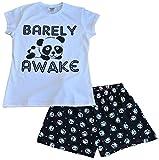Girls Barely Awake Panda Short Pyjamas (9-10 Years)