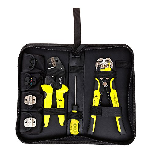 Crimping Tool Kit (KISENG JX-D4301 Multifunctional Ratchet Crimping Tool Wire Strippers Terminals Pliers Kit)