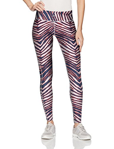 Zubaz Unisex Casual Printed Athletic Lounge Leggings, Navy/Red, -