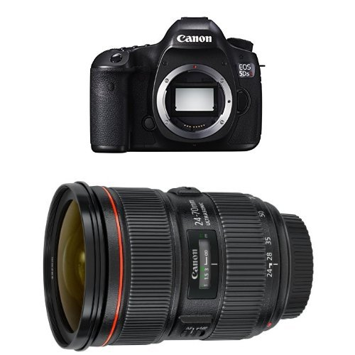 Canon EOS 5DS R Digital SLR Camera w EF 24-70mm F2.8 Lens Bundle