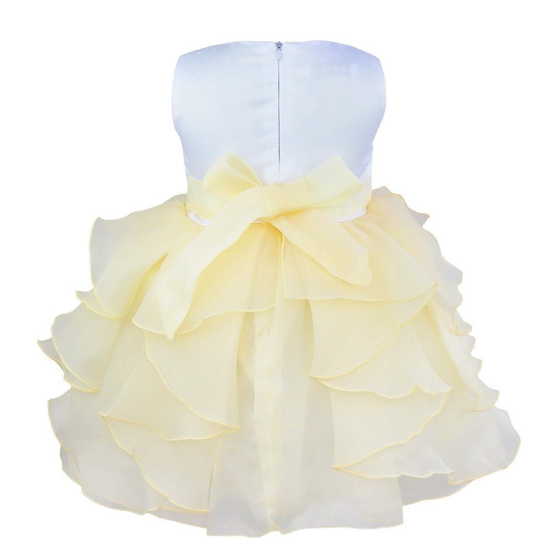 iiniim Baby Girl Clothes Newborn Flower Wedding Party Christening