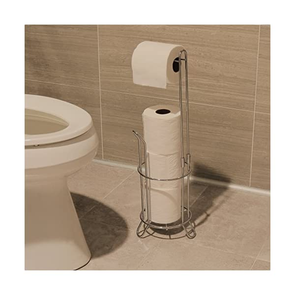 Simple-Houseware-Bathroom-Toilet-Tissue-Paper-Roll-Storage-Holder-Stand-Chrome-Finish