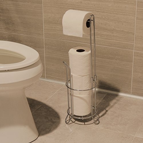 Simplehouseware bathroom toilet tissue paper roll storage for Storage for toilet rolls