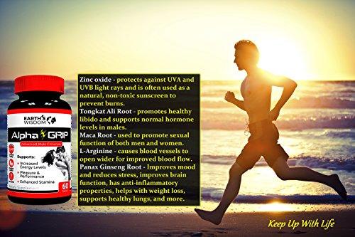 Best Potent & Natural Testosterone Booster ★ Increase Energy & Stamina ★ Enhance Muscle & Libido ★ L Arginine ★ Tongkat Ali ★ Zinc ★ Ginseng ★ Tribulus Terrestris ★ 100% GMO Free ★ Manufactured in USA