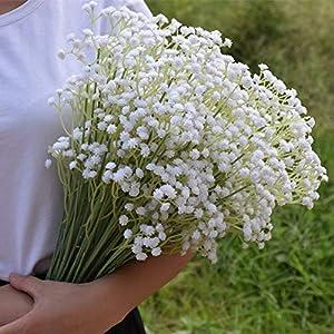 MARJON FlowersPlastic Artificial Baby Breath Gypsophila Flower for Home Wedding Office Party Decoration 48