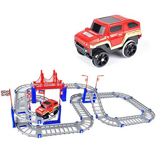 88Pcs Kids DIY Assembly Roller Coaster Electronic Rail Car 3D Spiral Track Toy