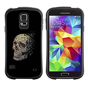 Be-Star Impreso Colorido Diseño Antichoque Caso Del Iface Primera Clase Tpu Carcasa Funda Case Cubierta Par Samsung Galaxy S5 SM-G900 ( skull abstract meaning black death )