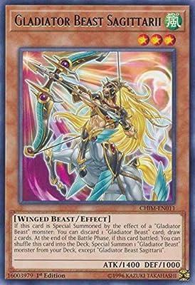 CHIM-EN011 Gladiator Beast Sagittarii Rare UNL Edition Mint YuGiOh Card