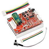 Brushless Motor Driver Controller, DROK BLDC Motor Control Module DC 6-72V 12V 24V Brushless Sensor Motor Regulator Monitor 400W High Power DC Motor Speed Controller Board with PLC PWM Control