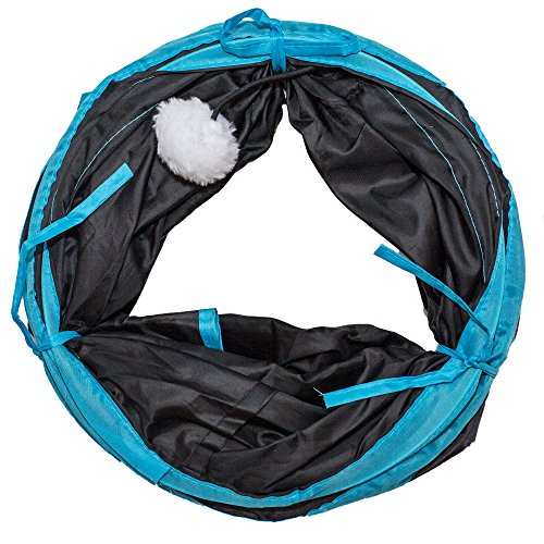PetLike Deluxe Collapsible Cat Tunnel Toy By Pet Tube For Kittens, Puppies, Rabbits And Other Small-Sized Pets Fun And Durable Hideaway For Entertainment, Training, Exercise And Running by PetLike (Image #1)