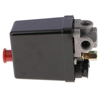 Homyl Compresor de Aire Control de Presión de Aire Interruptor de Presiones Controlador - 3 puerto: Amazon.es: Bricolaje y herramientas
