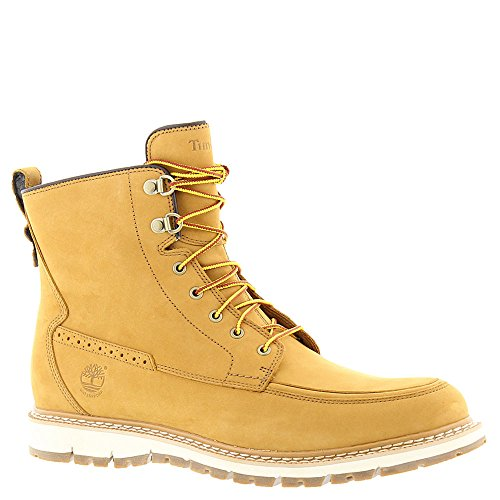 Timberland Men's Britton Hill WP Moc Toe Boot Wheat Nubuck10