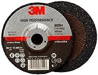 3M High Performance Depressed Center Grinding Wheel T27 66544, Ceramic, 4-1/2 Diameter, 1/4 Thick, 7/8 Arbor, 36+ Grit, 13300 rpm (Case of 10)