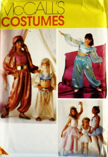 OOP McCalls Costume Pattern 8305. Girls Size 10/12 Dance Costumes: Bodysuit, Bodice, Briefs. Princess, Good Fairy, Ballerina, Fortune Teller & Harem Girl