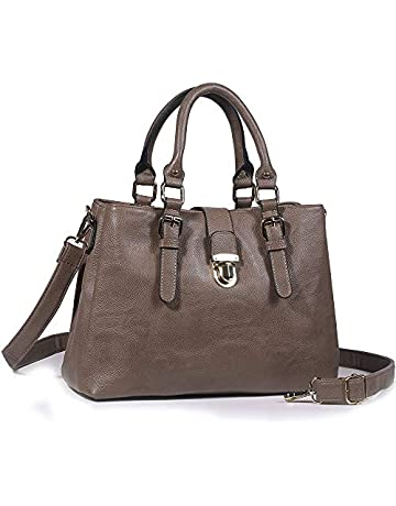 c1ae5dfc51b4 Y Shoulder Tote Zipper Satchel PU Leather Crossbody Bag