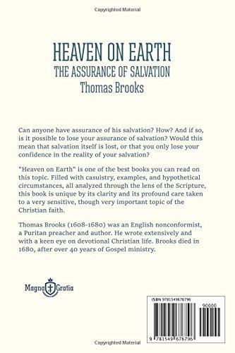 heaven on earth the assurance of salvation thomas brooks vasile