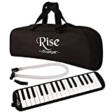 Rise by Sawtooth ST-RISE-MEL-32-BLK Piano Style Melodica, Black