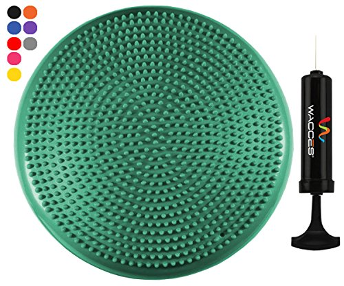 Wacces Inflatable Stability Balance Disc with Smart Pump, ( Green )