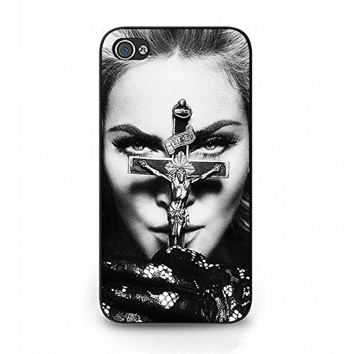 hülle Handyhülle Shell Unique Cross Design Super Singer Madonna Ciccone Phone hülle Handyhülle Cover for Iphone 4 4s Madonna New Stylish,Telefonkasten SchutzHülle