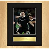 Richie McCaw Signed Mounted Photo Display All Blacks by My Prints