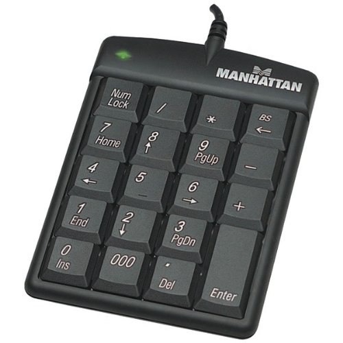 Manhattan 176354 USB Numeric Keypad with 19 Full-size keys from Manhattan Products