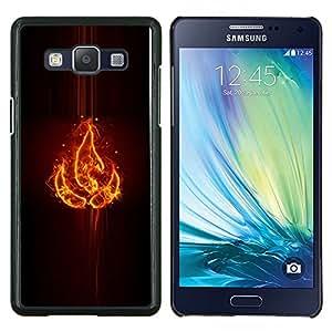 TECHCASE---Cubierta de la caja de protección para la piel dura ** Samsung Galaxy A5 ( A5000 ) 2014 Version ** --Elemento fuego