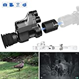 HHWOLF Digital Night Vision Monocular Telescope with 7x Magnification in Darkness and Camera Video Recorder Portable for Outdoor Hunting Bird Watching and Camping