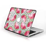 Rubberized Hard Case for Macbook Air 13 Inch model number A1369 and A1466, Watermelon design with clear bottom case, Come with Keyboard Cover