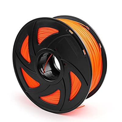 Areyourshop ABS 3D Printer Filament 1.75 mm,1kg Spool 2.2lbs, Dimensional Accuracy +/- 0.03mm,for 3D Printers,3D printing Pen Fluo Orange
