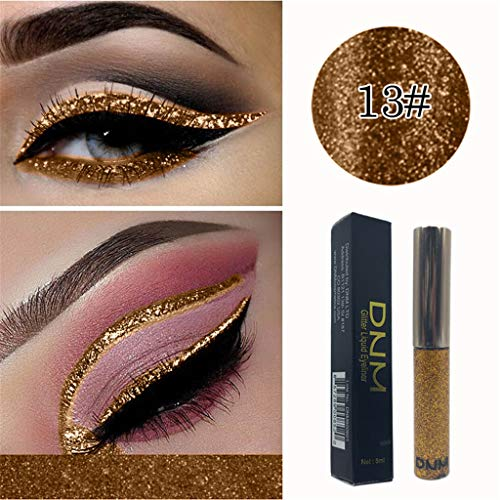 Eye Shadow - 16 Colors Glitter & Glow Liquid Eyeshadow Set 3D Shimmer Metallic Waterproof Creamy Eye Gloss Makeup Kit Waterproof Long Lasting Eyeliner Cosmetic Set (M) ()