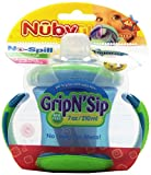 Baby : Nuby Two-Handle No-Spill Grip N' Sip Cup with Spout, 7 Ounce, Colors May Vary