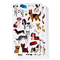 Blue Panda 36-Sheets Kids Small Puppy Dog Stickers - 648 Total Pieces, 8.5 x 5 Inches